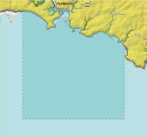Map view of plymouth sound